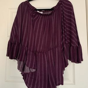 Purple off the shoulder romper